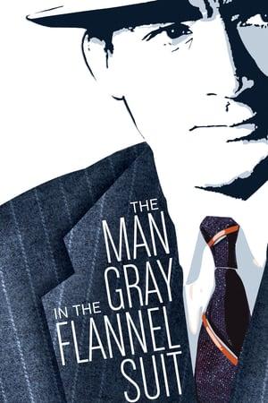 Мужчина в сером фланелевом костюме